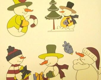 snowmen diecuts