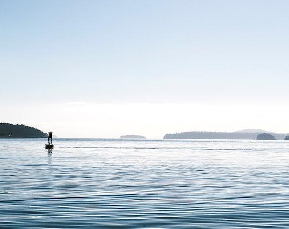 Summer Bayview Print, Nautical Image, Art, Photography, Beach Home Decor, Blue and White  Print, Fine Art   Print,  + NEW Panoramic Sizes