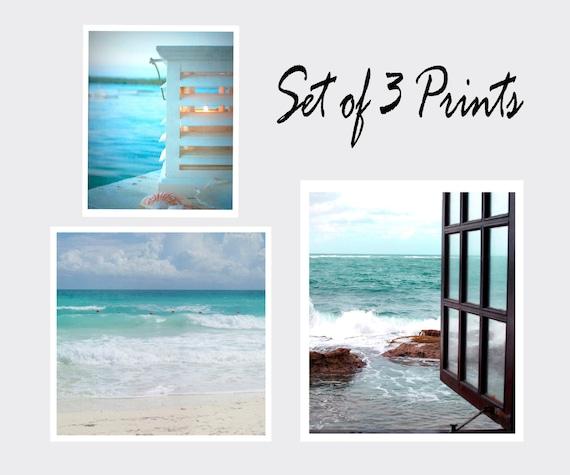 Sale, Landscape, Seascape, Coastal Print Set, Three Individual Prints, Summer, 11x14 Print,  11x11 Print,  8x10 Print, Photography, Cottage