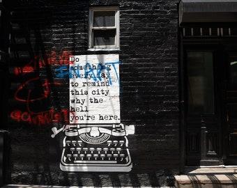 NYC Graffiti Photo, Street Art New York, Manhattan Street Photo, Urban Home Decor, Graffiti Art Print