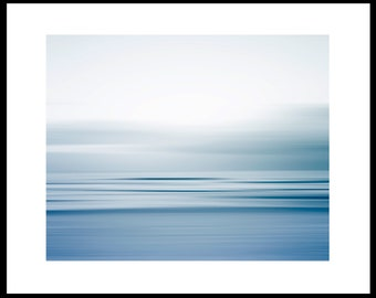 Coastal Waters Abstract Photo, Living Room Art Print, Coastal Wall Decor, Blue Grey Wall Art, Bedroom Decor, Modern Abstract Print