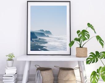 California Beach Photography, Coastal Home Decorating, Foggy Coastline Print, Beach Home Art, Nautical Wall Art, Coastal Landscape Art