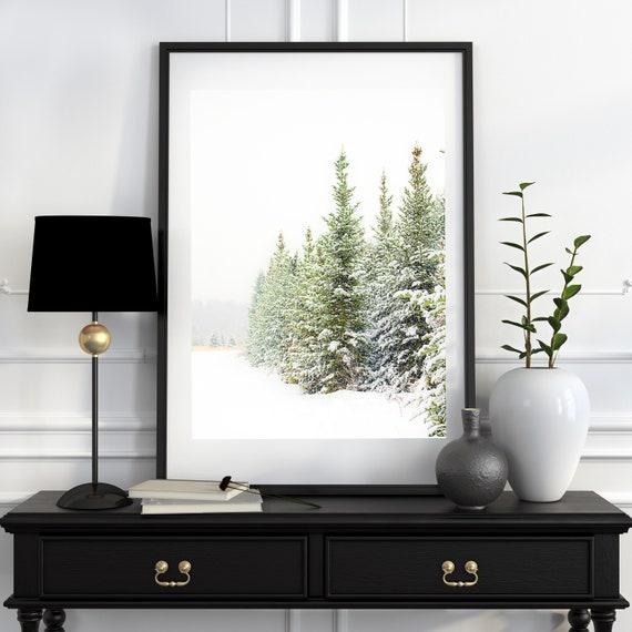 Ready to Ship, Christmas Print, Holiday Decor, Winter Photo, Snowy Pine Trees, Snow Scene, Evergreens, 16x20 inch print, Sale Price