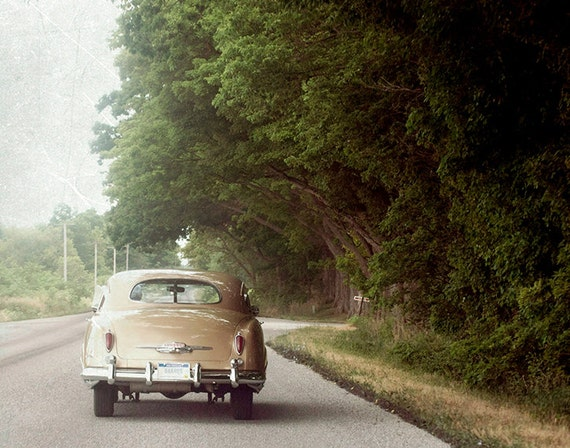 Fine Art Photo, 11x14, Classic Retro Car, Summer, Road Trip, Wall Art, Vintage Look Photography print