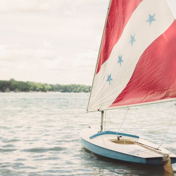 Sailboat Print,Nautical Photo, Lake Art, Coastal Home Decor, Summer Cottage Art, Beach House Decor, Cindy Taylor Print