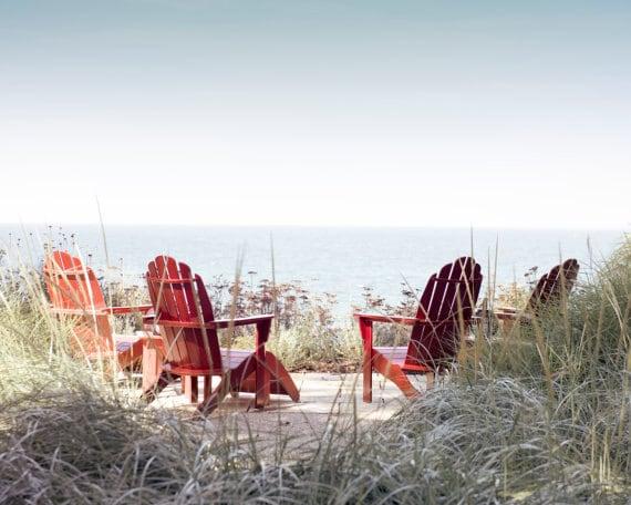 Adirondack chaises impression photo de la plage photo etsy - Chaise adirondack france ...