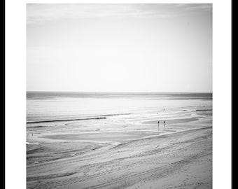 Set of two, black and white beach prints, Cape Cod set of photos, nautical decor, coastal home, beach house decor