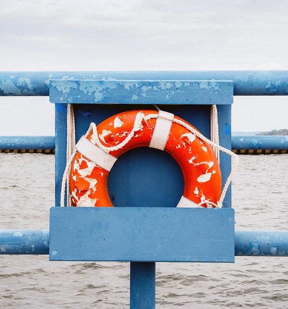 Life Preserver Photo, Coastal Photography, Beach Art Print, Nautical Scene, Wall Decor, Large Wall Art, Coastal Art, Cindy Taylor Print