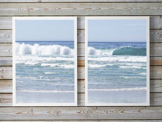 Ocean Print Set, Coastal Photography, Beach Home Decor, Set of two Ocean Prints, Water, Sea Photos