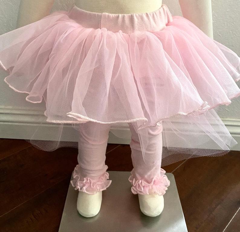 Fluffy and Full Tutu Leggings  Pettiskirt Leggings for Girls  Many Colors Available\u2014-0M-12yrs