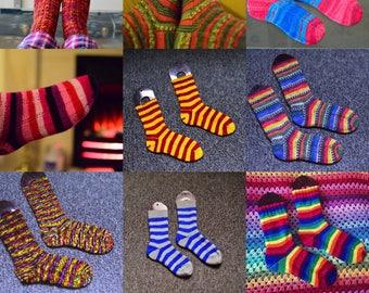 Calcetines tejidos a mano personalizado