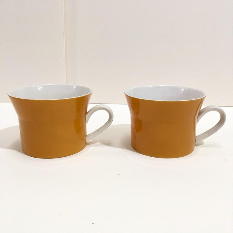 Mikasa Orange Duplex coffee cups set of 2 image 0