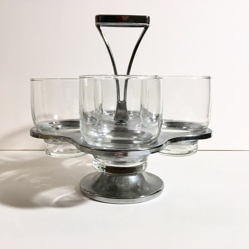 4 Tumblers with Carrying Rack image 0