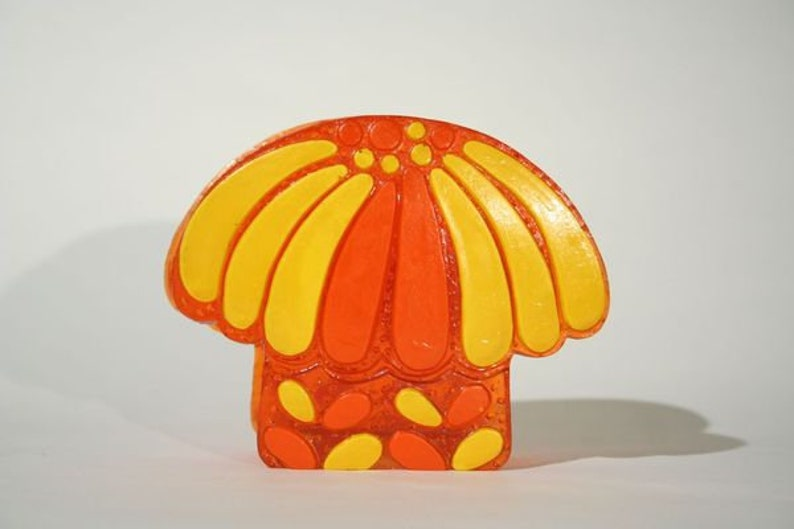 Orange and Yellow Mushroom Napkin Holder image 0