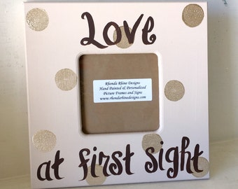 Love at First Sight frame in Khaki and Gold
