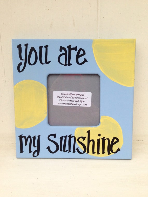 You Are My Sunshine 35x35 Frame In Blue Etsy