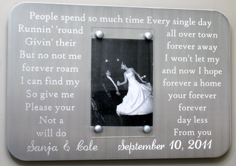 Stahl graviert 11. Jahrestag Bilderrahmen für Eheversprechen | Etsy