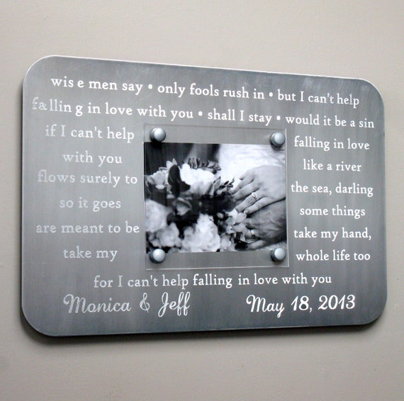 10 Year Anniversary Gift Engraved Picture Frame Wedding Song Etsy