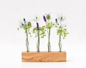 Geometric Wooden Vase Modern Bud Vase Minimalist Wedding Vase FLORENCE