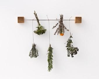 Herb Drying Rack Magnetic Kitchen Rack Magic Wooden Cubes VLADIMIR & KAZIMIR extended