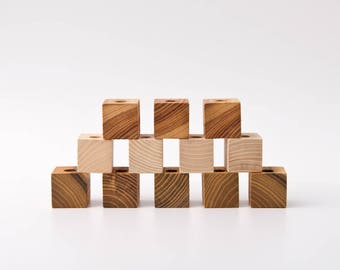MAGIC PEN CUBES™ Magnetic Pen Holder Wooden Cube Vladimir&Kazimir