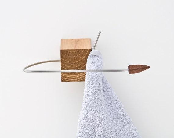 Nautically Inspired Towel Rack Decorative Towel Ring Etsy