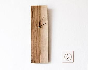 Wood Wall Clock, Rectangular Wooden Clock, Modern Wall Clock ELIAN D