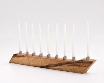 Modern Menorah Hanukkah Menorah Salvaged Wood Candle Holder Chanukah LIOR