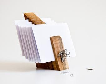 Letter Holder, Wood Mail Organizer, Desk Organization OSCAR