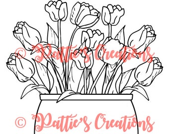 Potted Spring Tulips