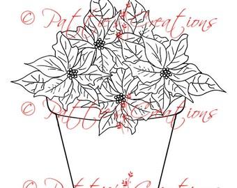 Poinsettias In Flower Pot