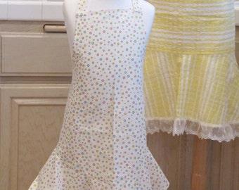 Children's Ruffled Apron: Pastel Polka Dots