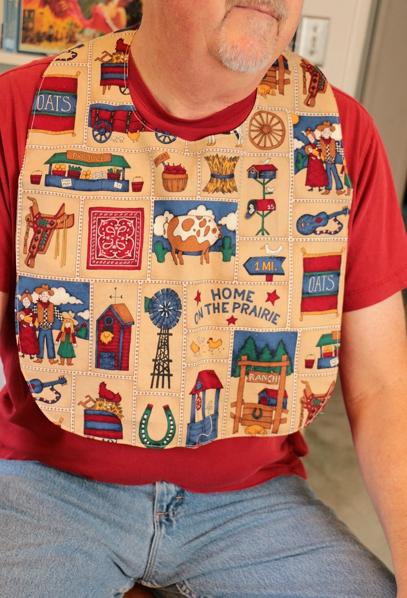 Adult Bib:  Home on the Prairie image 0