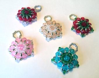 Ornate Star Beaded Ornaments
