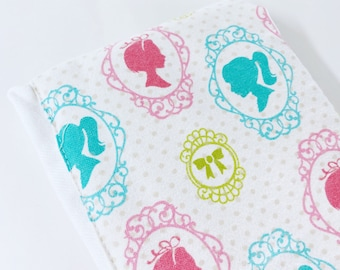 Young Girl Silhouette Portraits baby burp rags or burp cloths