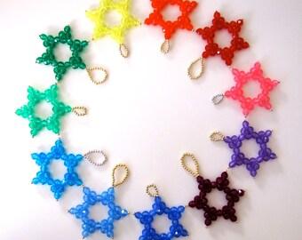 Beaded Star Ornaments