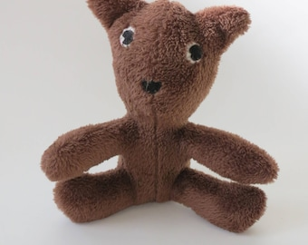 Soft and Fluffy Brown teddy bear stuffed animal