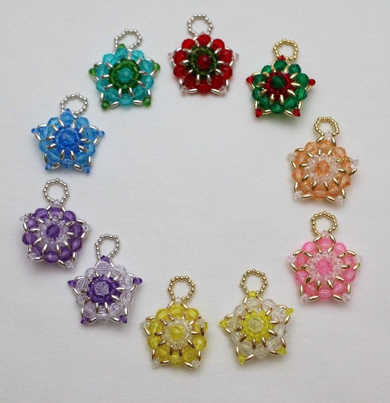 Ornate Star Beaded Ornaments image 0