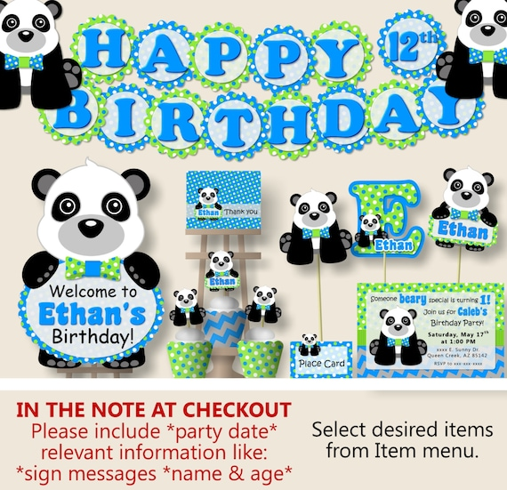 Panda Birthday Party Or Panda Baby Shower Decorations Party Etsy