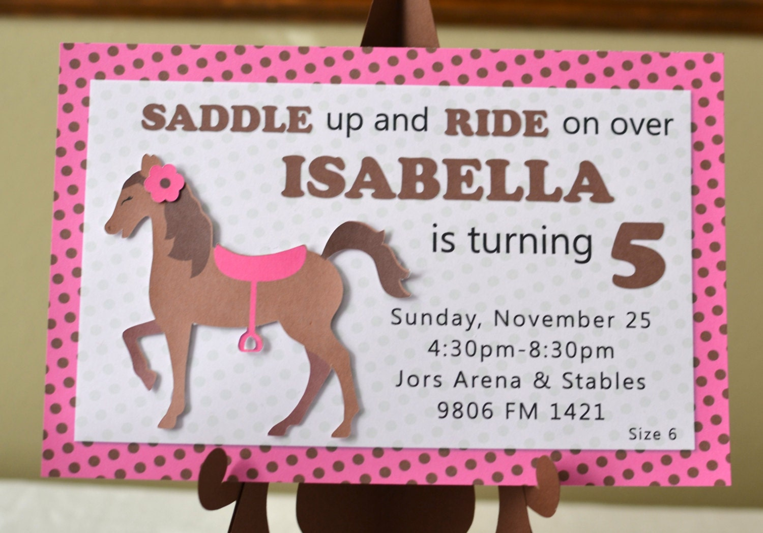 My Little Pony Birthday Invitations Cowgirl Birthday | Etsy
