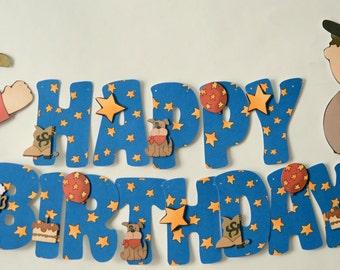 COWBOY Birthday Party BANNER, Western Birthday , Country Western Theme Birthday, Wild West Party Decoration
