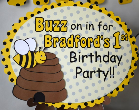 Bumble Bee 1st Birthday Sign Bee First Birthday Sign Honey Bee