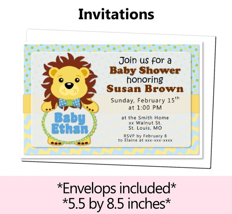 Lion King Baby Shower Invitation Lion King Invitation Lion Etsy
