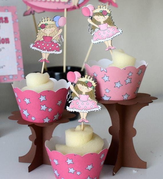 Princess Birthday Cupcake Toppers