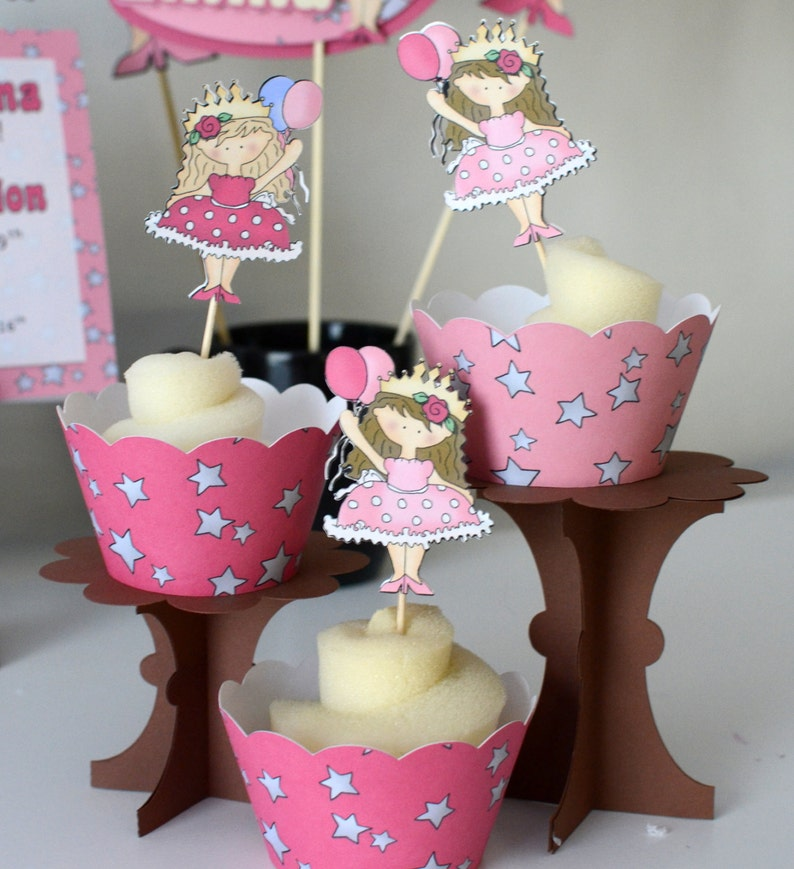Princess Birthday Cupcake Toppers Party Decorations
