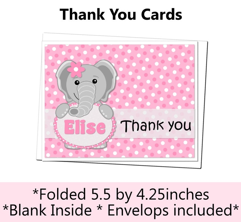Cupcake Toppers Centerpieces Matching Items /& Party Packages Available Elephant Pink /& Lavender Purple Baby Shower Banner Water Bottle Labels etc. Favor Tags Door Sign