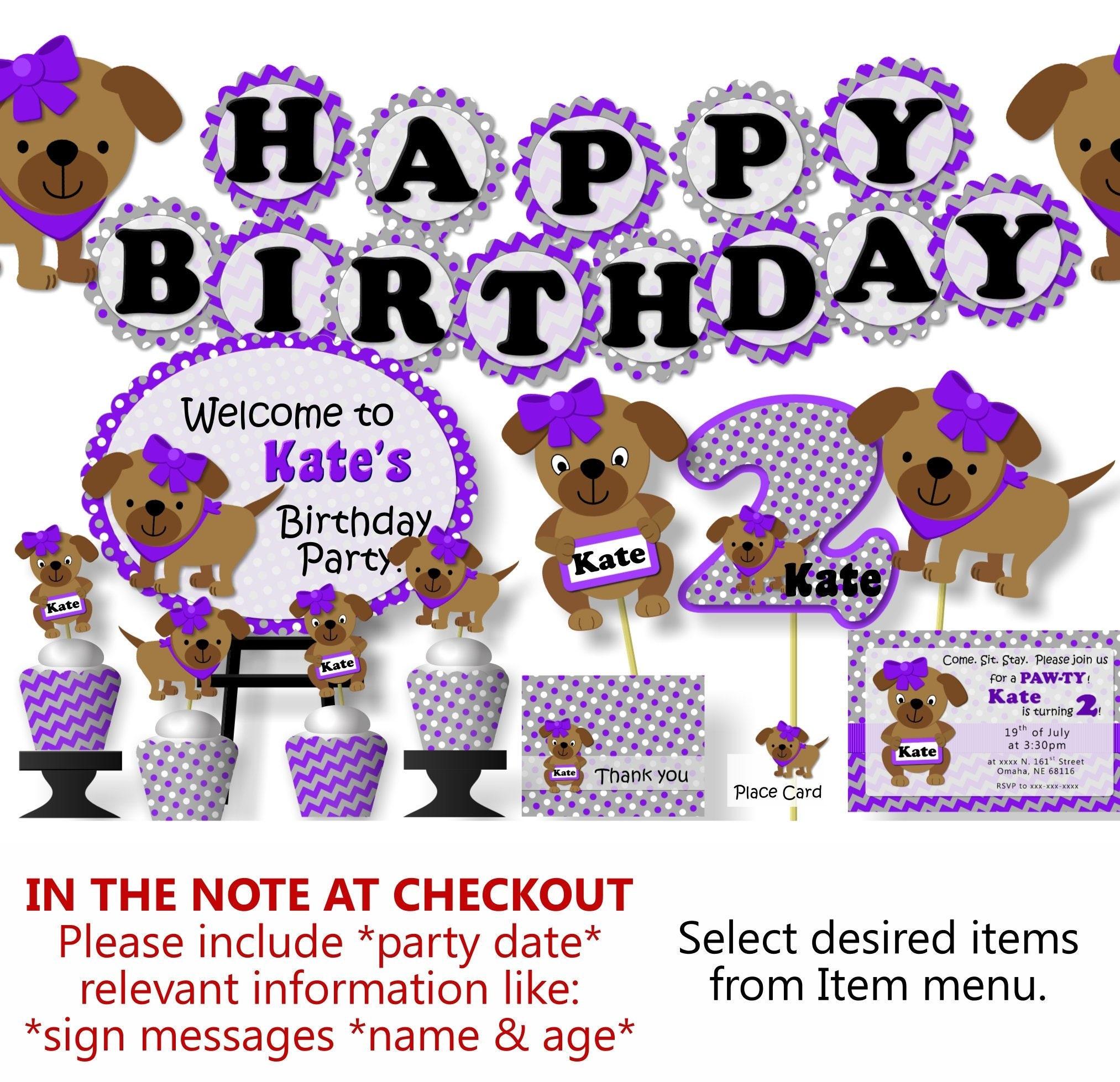 Puppy Party Decorations Birthday Dog