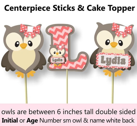 Prime Owl Centerpiece Owl Table Decor Owl Cake Topper Owl Baby Personalised Birthday Cards Sponlily Jamesorg