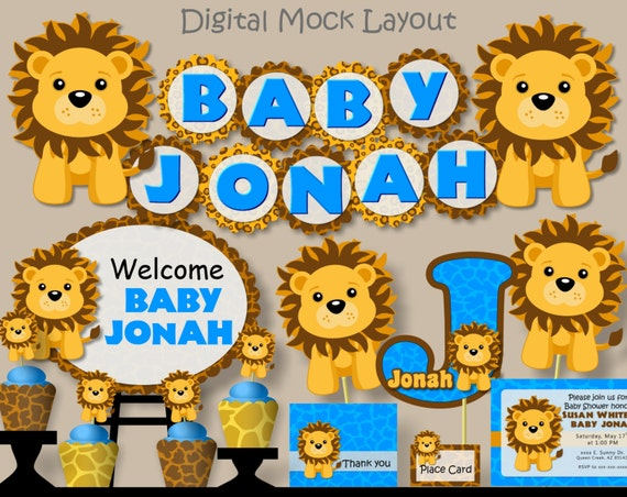 Baby Lion King Baby Shower Decorations  from i.etsystatic.com