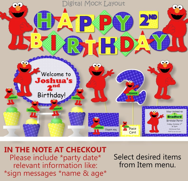 Elmo Birthday Party Decorations Sesame Street
